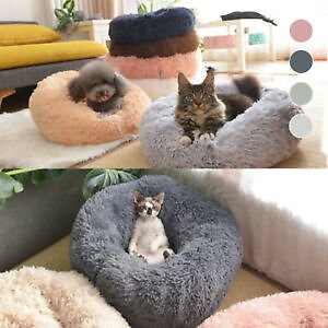 Popular Soft Plush Round Pet Bed Cat Soft Bed Cat Bed for Cats Small Dogs New
