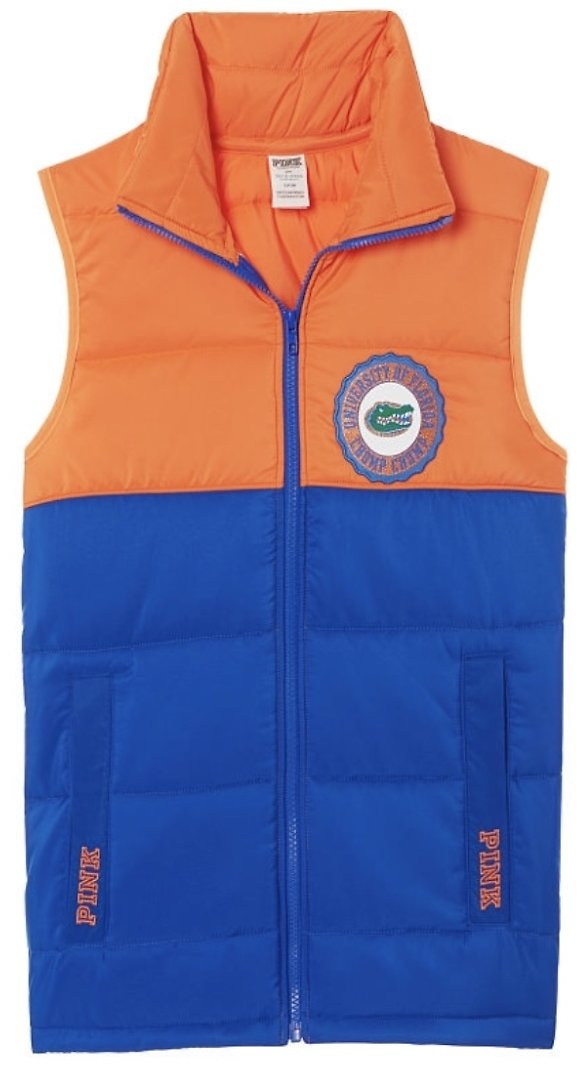 Puffer Vest - PINK Collegiate Collection - Pink