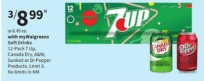 3 x 12-Pack Soft Drinks