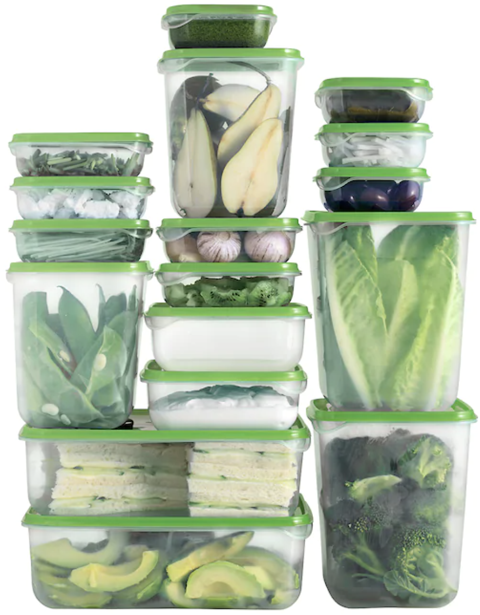 17-Count PRUTA Food Containers Set