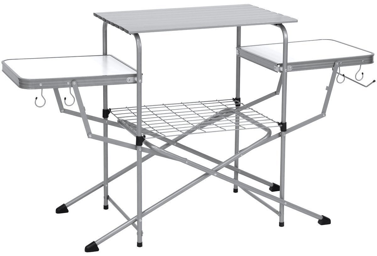 Portable Folding Grilling Table w/ Carrying Case