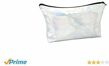 Women Cosmetic Pouch Portable Travel Makeup Bag with Zipper Closure
