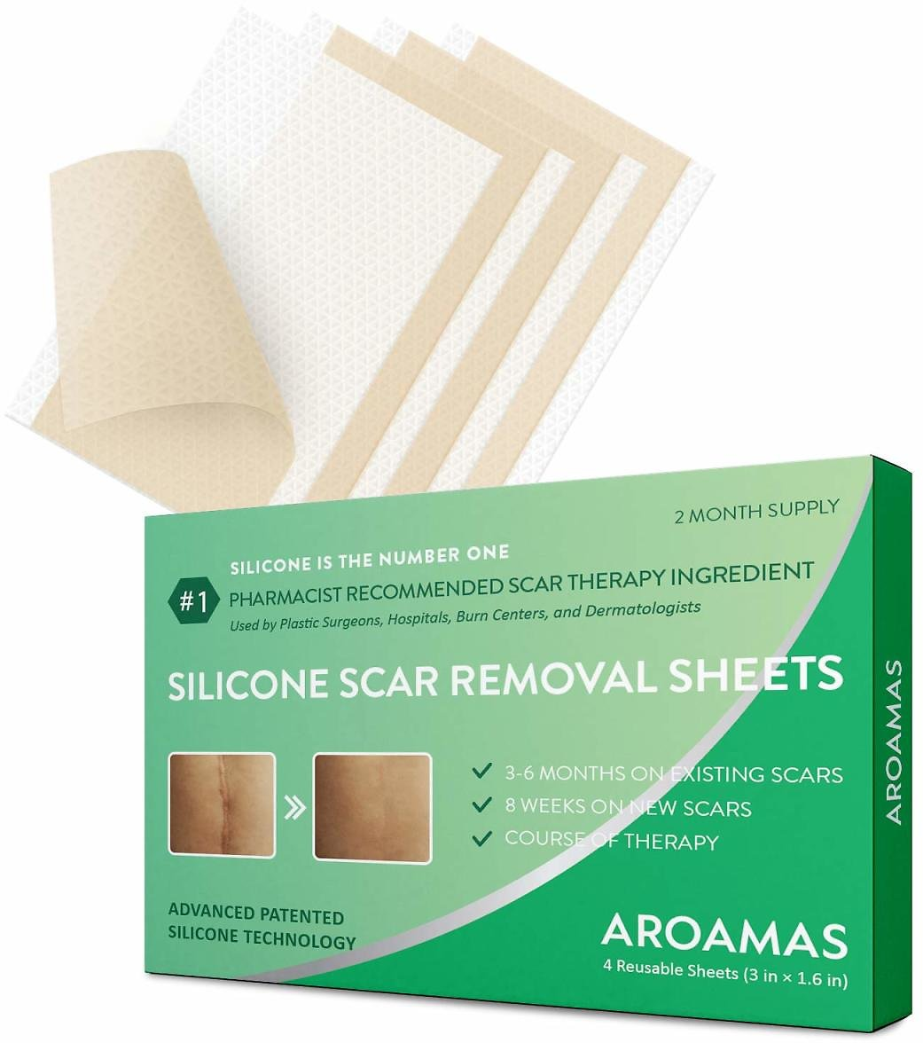 Aroamas Silicone Scar Removal Sheets - Reusable and Washable 3