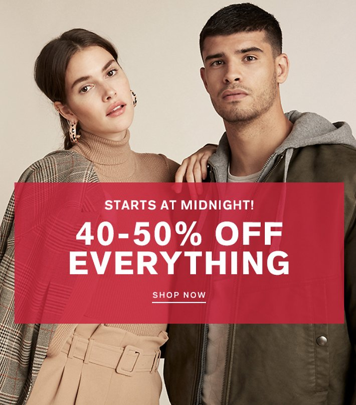 Express - 40-50% Off Everything + extra 50% off clearance