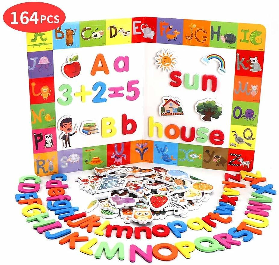 164PCS Magnetic Letters and Numbers for Toddlers