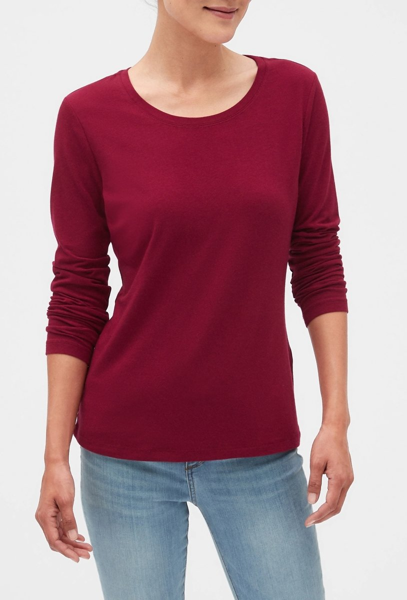 Banana Republic Women's Timeless Crew Neck T-Shirt (Wineberry Red) $5.60 + Ships Free