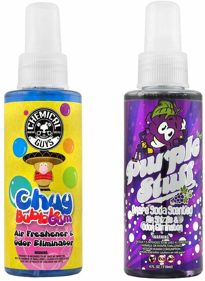 Chemical Guys AIR_303_04 Bubble Gum and Grape Soda Scent Sample Kit (4 Oz) (2 Items)