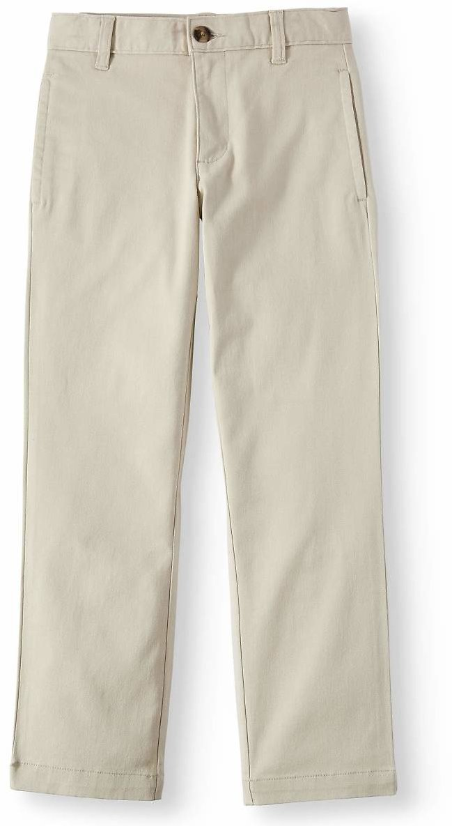 Wonder Nation Boys School Uniform Twill Chino Pants (Little Boys, Big Boys, & Husky)
