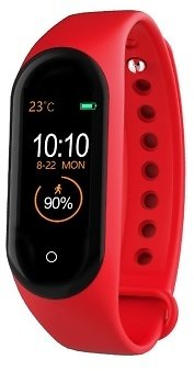 M4 New Bracelet Waterproof Sports Pace Heart Rate Off-the-shelf Factory Direct M4 Smart Bracelet Life Waterproof Charger - Red