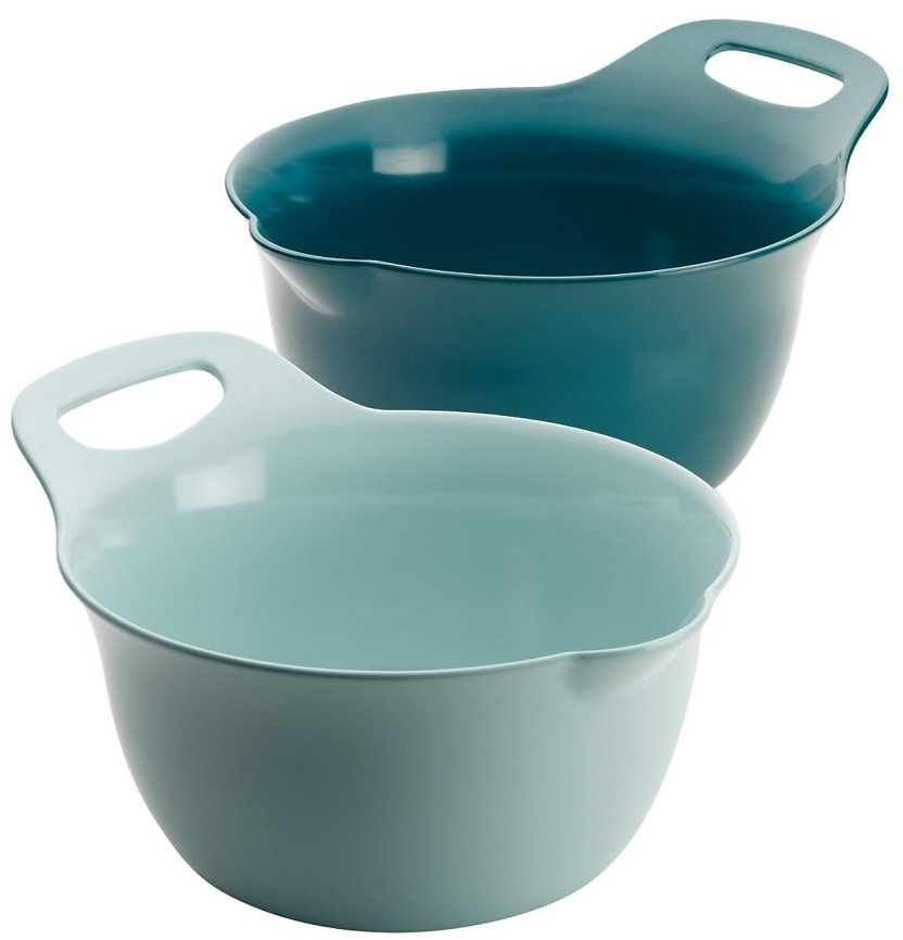 Rachael Ray Tools and Gadgets Nesting 2-Pc. 4-Qt. and 5-Qt. Mixing Bowl