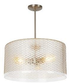 67% Off Lania 3-Light Clear-Brass Pendant