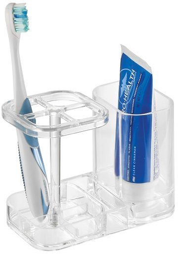 Clear Toothbrush & Toothpaste Holder