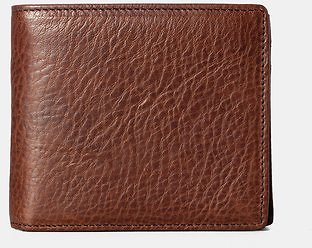 Men Genuine Leather Vintage Clamshell 2 Different Design Wallet