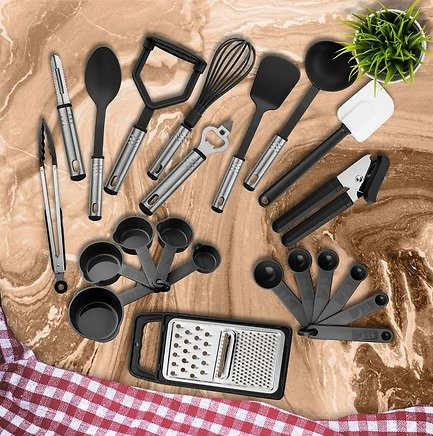 LuxDecorCollection 23 Piece Kitchen Utensil Set