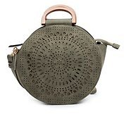 Perforated Circle Satchel