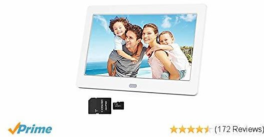 Digital Picture Frame 1280x800 16:9 IPS Wide Screen Include 32GB SD Card, HD Video Frame