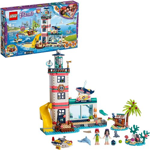 LEGO Friends Lighthouse Rescue Center 41380 Building Kit with Lighthouse Model and Tropical Island