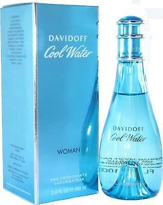 COOL WATER By Davidoff for Women Eau Deodorant Spray 3.3 / 3.4 Oz New in Box