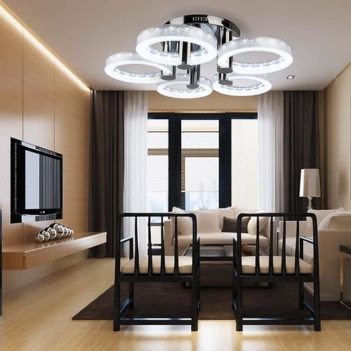 FIRSTBUY [HOT]4 Color European Modern Ceiling Lighting LED Acrylic Chandeliers Ceiling Lighting Lamp With 5 Lights