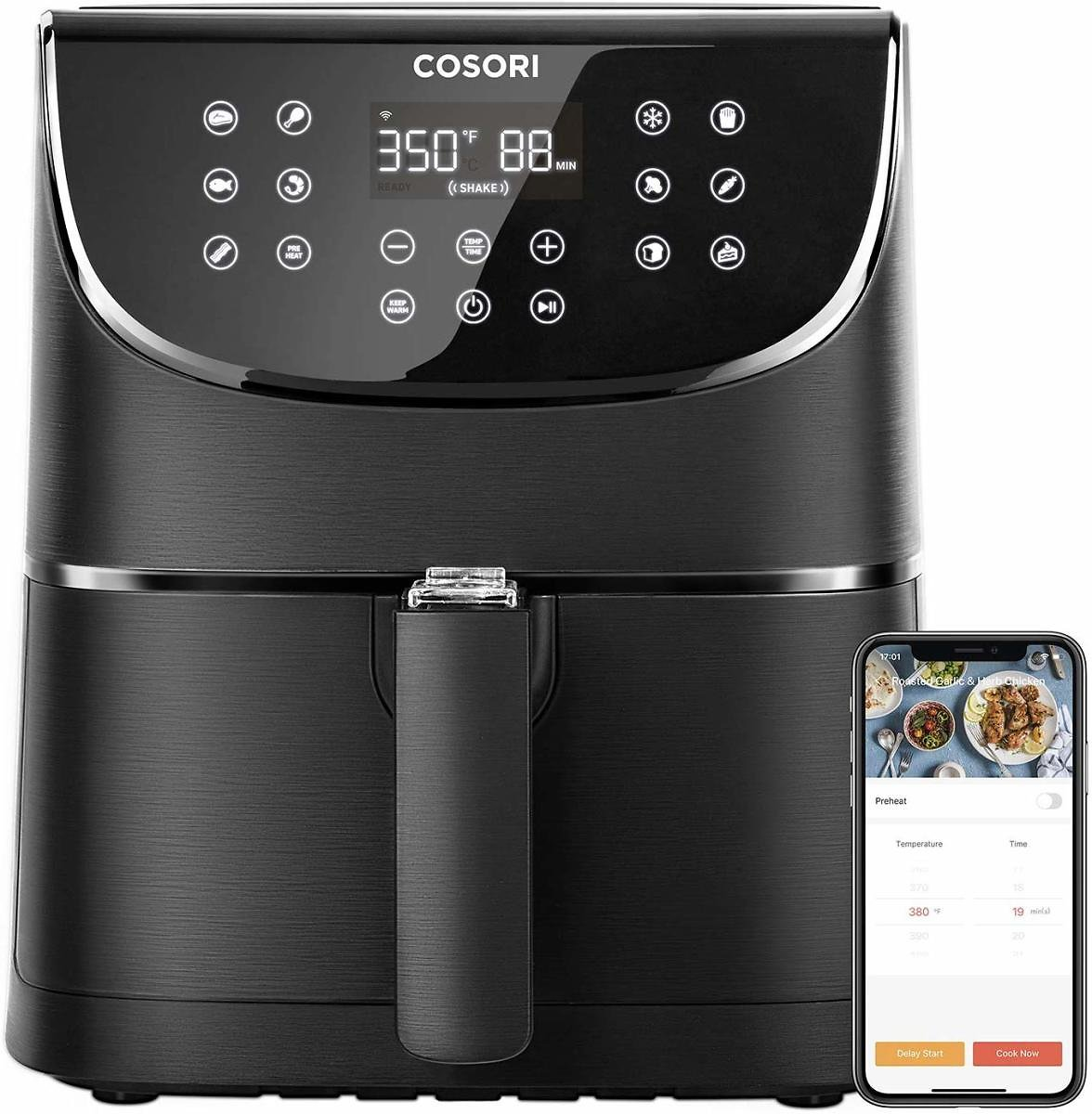 Avail 13% Discount - COSORI Smart WiFi Air Fryer 5.8QT 1700-Watt