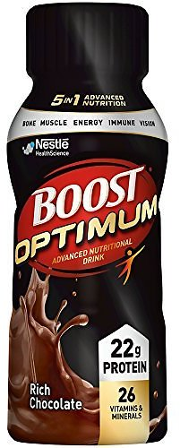Boost Optimum Advanced Nutritional Drink, Rich Chocolate, 8 Fl Oz Bottle, 16 Pack (Packaging May Vary)