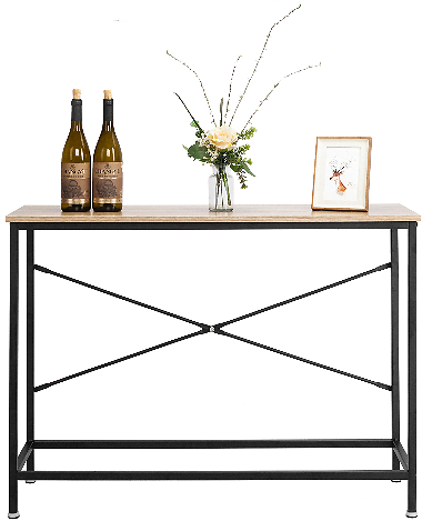 Ktaxon Console Table Sturdy Metal Frame Sofa Table
