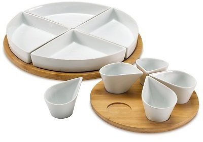 Over and Back Large Lazy Susan 11-Piece Serve Set