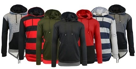 Galaxy By Harvic Men's French-Terry Slim-Fit Pullover Hoodie (S–3XL)