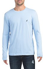 Long Sleeve Solid Crew Neck Top - Shirts - T.J.Maxx