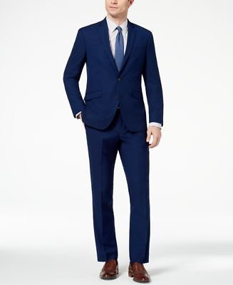 Slim-Fit Stretch Modern Solid Suit