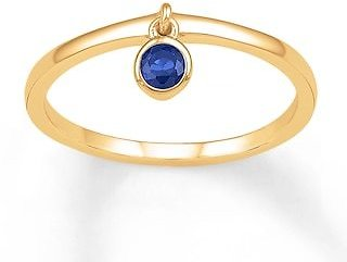 Dangle Ring Lab-Created Sapphire 10K Yellow Gold|Kay