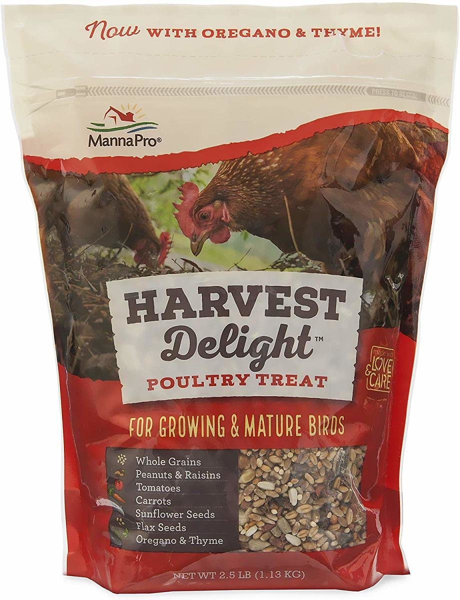 Manna Pro Harvest Delight, Poultry Treat with Whole Grains, 2.5 Lb