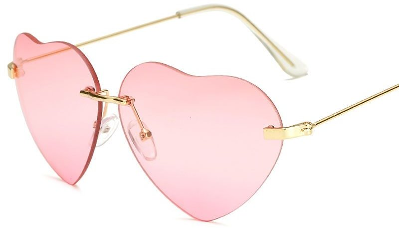 US $3.79 5% OFF|Fashion Design Love Heart Sunglasses Brand Women Rimless Sun Glasses Pink Red Gafas Elegant Shades Lady Vintage Eyewear-in Women's Sunglasses from Apparel Accessories On AliExpress - 11.11_Double 11_Singles' Day