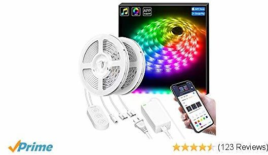 Smart LED Lights Strip with Music Sync, Govee APP Control 32.8Ft LED Strip Light, Waterproof Dream Color Changing with Brighter 5050 LEDs, Controller and Phone APP Control for Home, Kitchen, Cabinet,