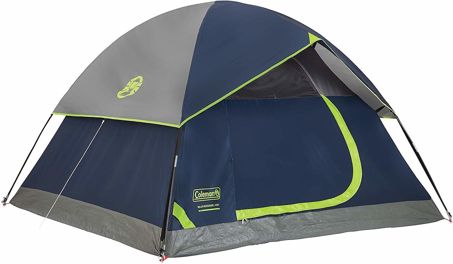 Coleman 4-Person Dome Tent for Camping | Sundome Tent - Navy