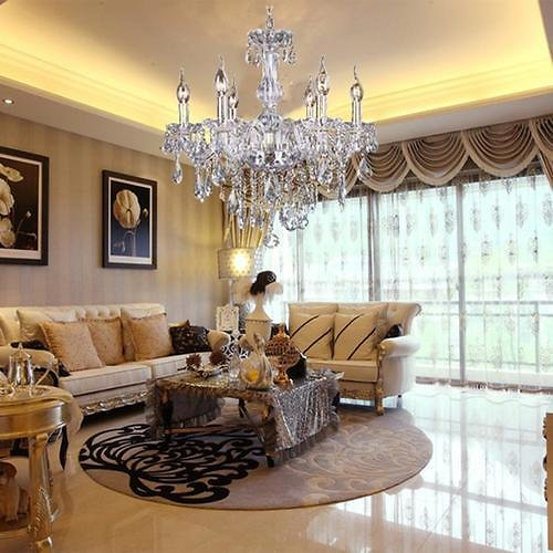 Bestselling 6 Lights Crystal Lamp Fixture Pendant Ceiling Chain Candle Chandelier