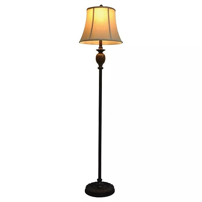 J. Hunt Marble Floor Lamp - Bronze/Beige (61