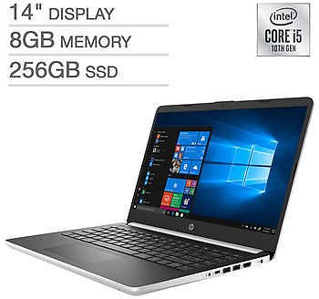 HP 14-dq1025cl 14-inch Laptop w/Intel Core i5, 256GB SSD