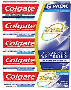 5-Pack Colgate Total SF Advanced Whitening Toothpaste 6.4 Oz