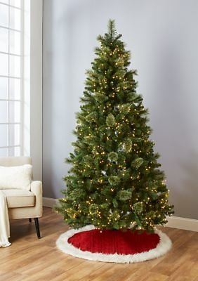 Joyland 7 Foot Pre Lit Clear Light Tree with Metal Stand