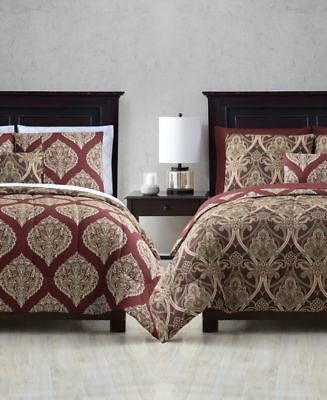 Hallmart Collectibles Brandel Reversible 12-Pc. Queen Comforter Set & Reviews - Bed in a Bag - Bed & Bath