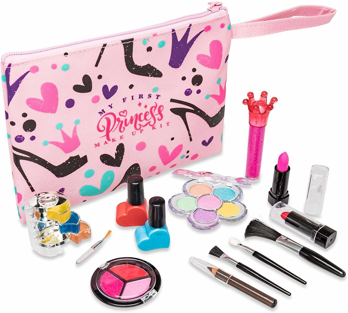 My First Princess Make Up Kit - 12 Pc Kids Makeup Set