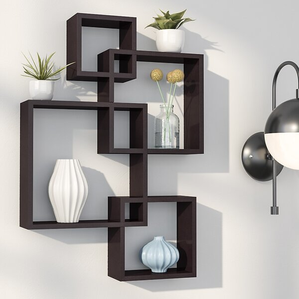 Vernonburg Intersecting Cubes Shelf