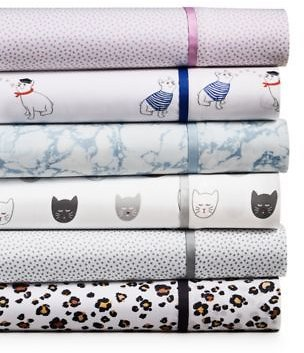 Martha Stewart Collection Novelty Print Sheet Sets, 250 Thread Count 100% Cotton, Created for Macy's & Reviews - Sheets & Pillowcases - Bed & Bath