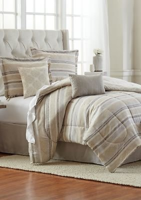 Modern. Southern. Home.™ Queen Size Gabe Damask 6-Piece Comforter Bed-In-A-Bag