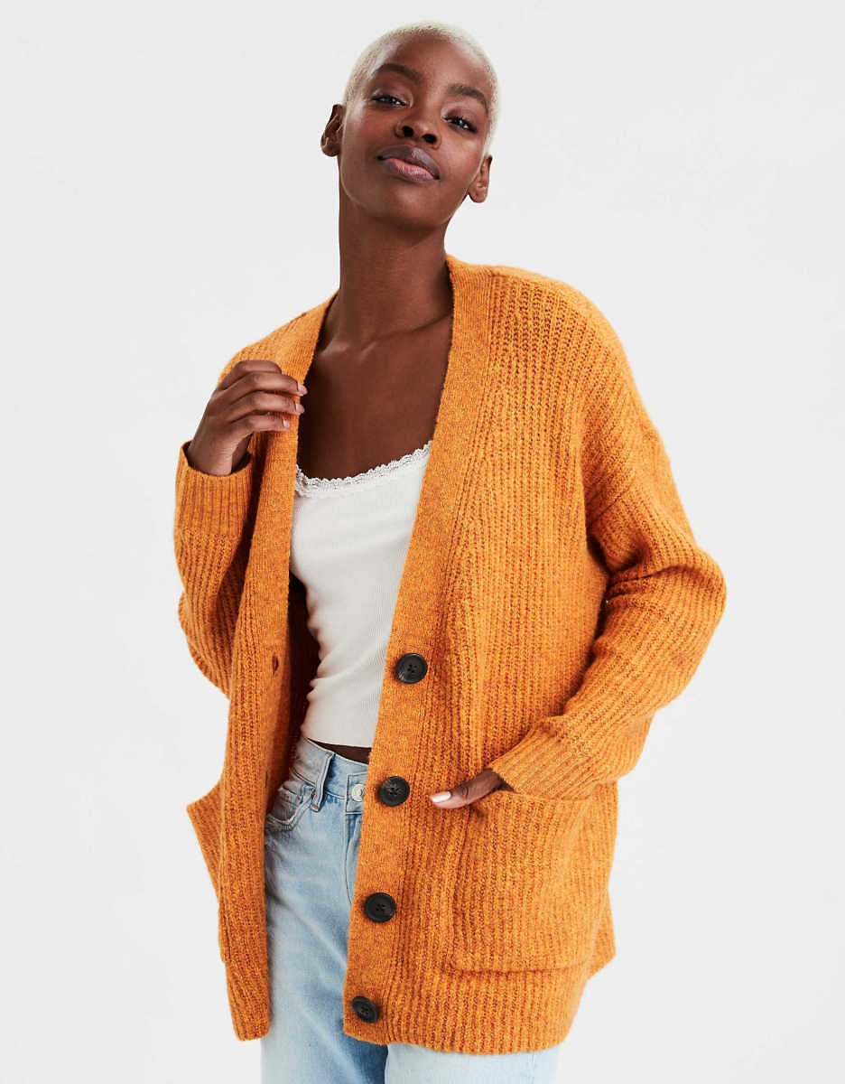 American Eagle Button Up Long Cardigan (2 Colors)