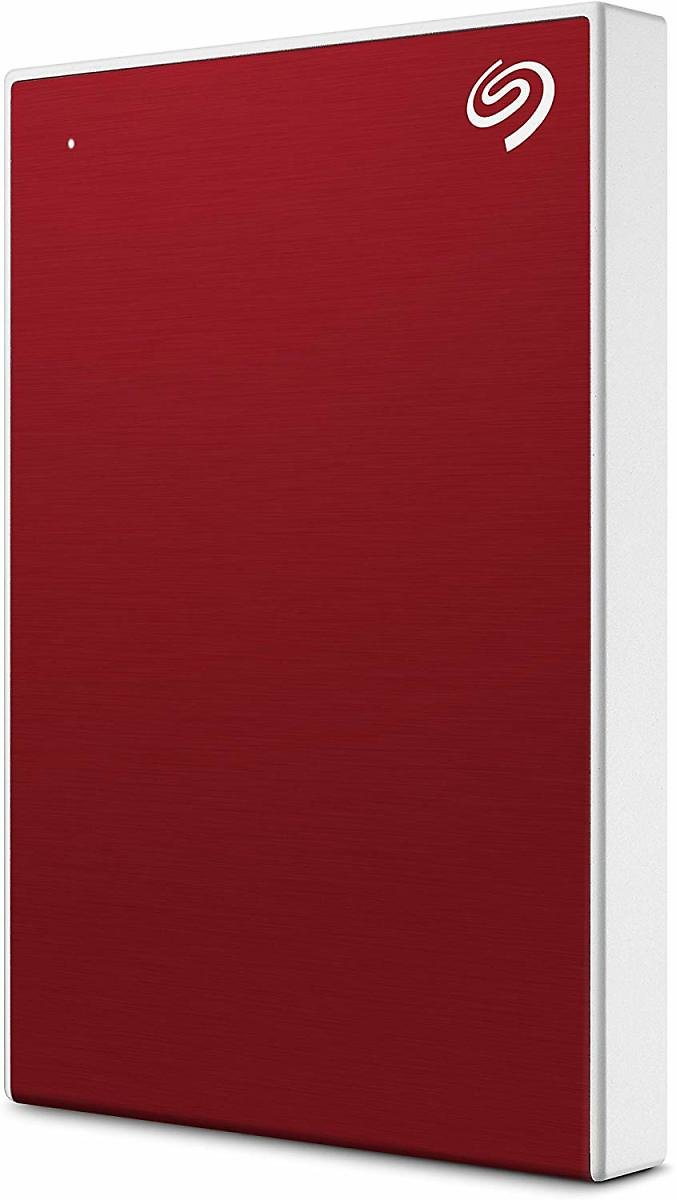 Seagate Backup Plus Slim 2TB External Hard Drive Portable HDD - Red USB 3.0 for PC Laptop and Mac, 1 Year Mylio Create, 2 Months Adobe CC Photography, (STHN2000403)