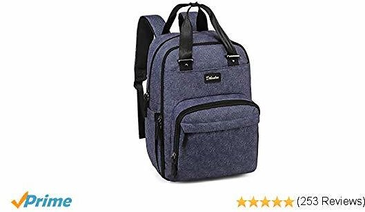 Diaper Bag Backpack Large Capacity Nappy Baby Bags with Insulated Pockets and Changing Pad Waterproof Unisex Travel Back Pack for Mom and Dad Blue