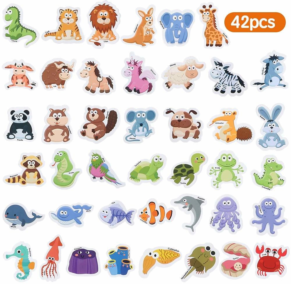 42 PCS Fridge Magnets for Toddlers Early Learning Educational Toy