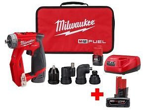M12 FUEL 12-Volt Lithium-Ion Brushless Cordless 4-in-1 Interchangeable 3/8 in. Drill Driver Kit with Free 6.0 Ah Battery